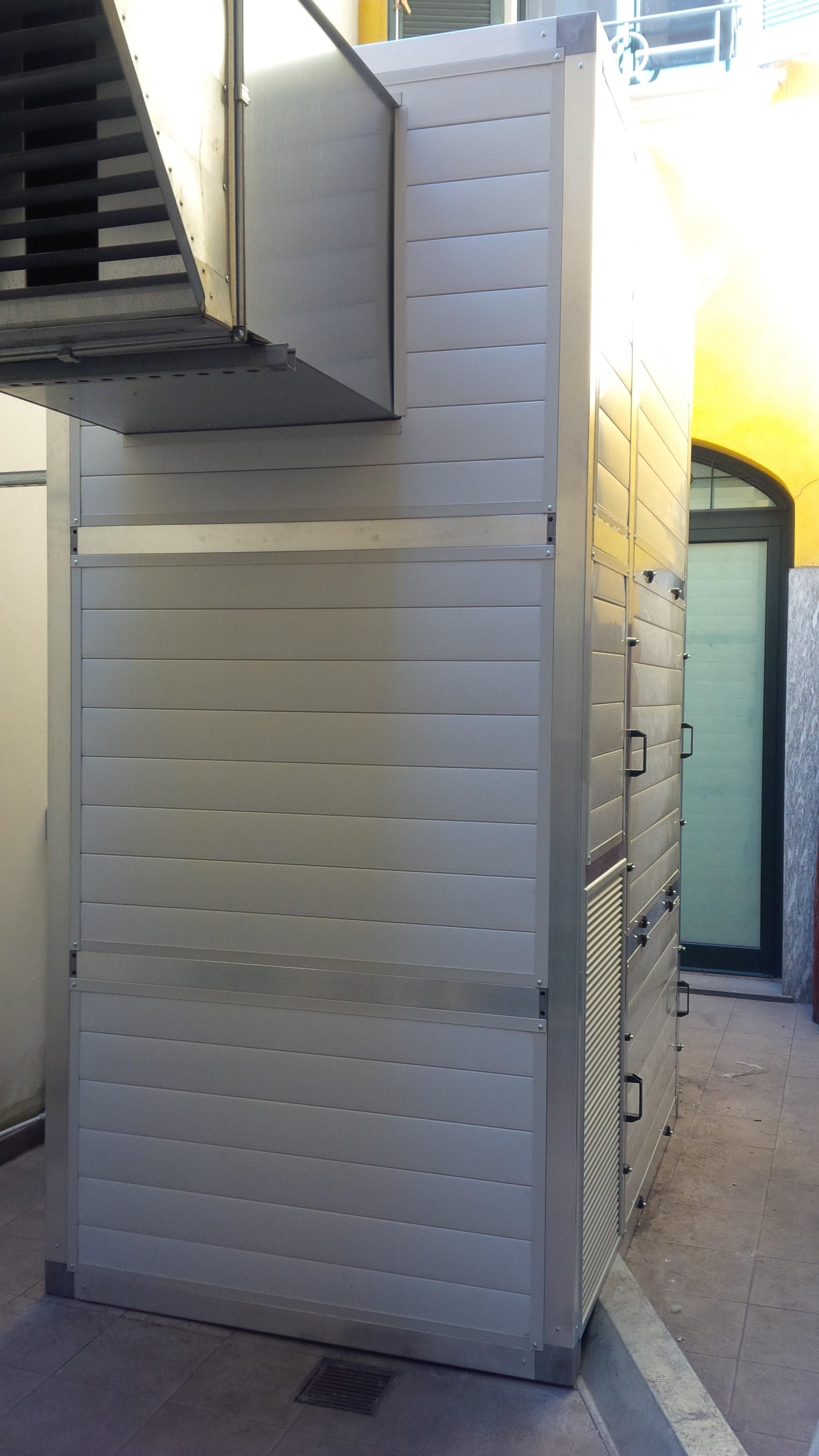 Cabina silente per impianto condizionamento presa daria silenziata con setti acustici