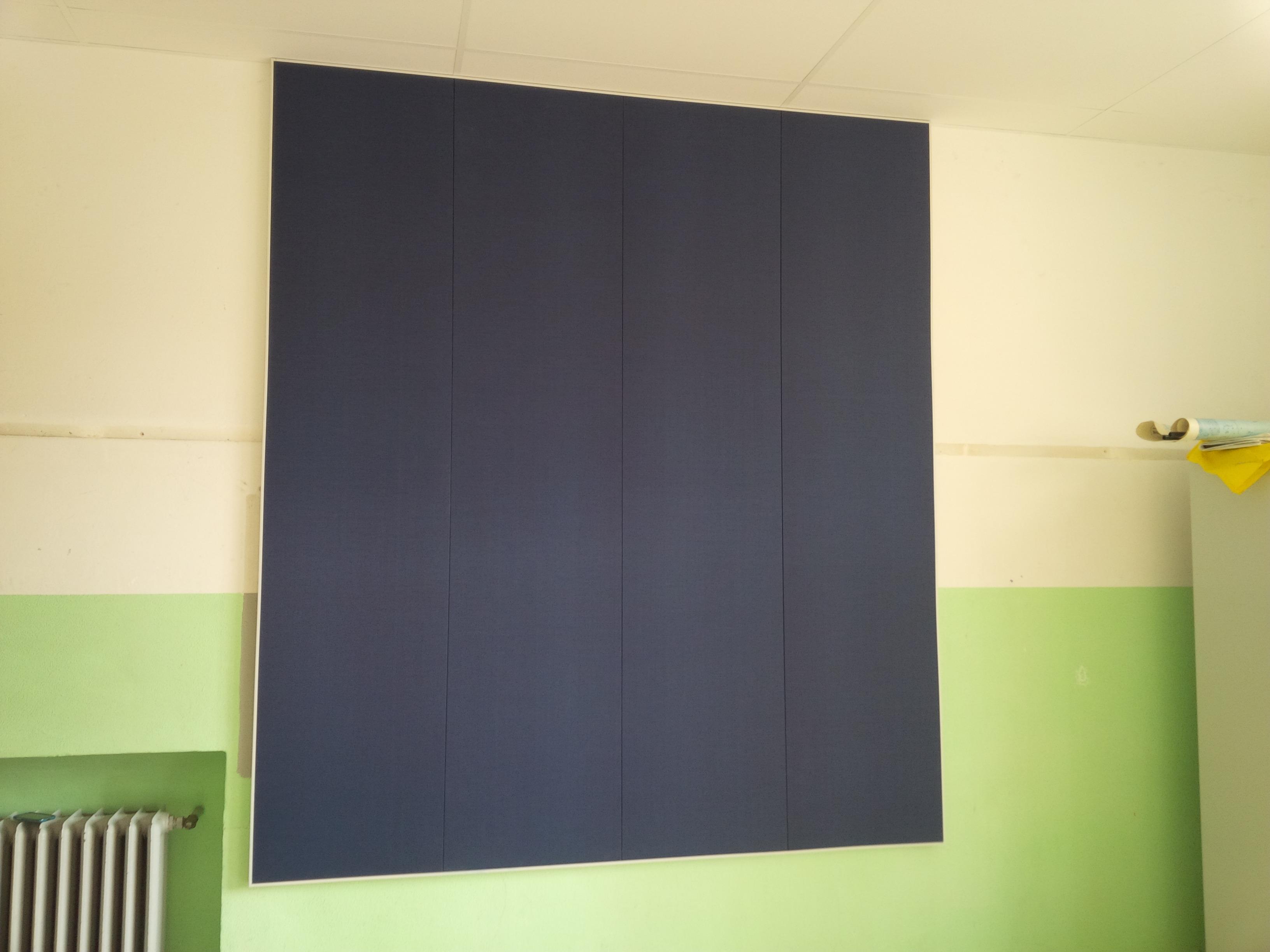 Correzione acustica parete aula musica solo montaggio