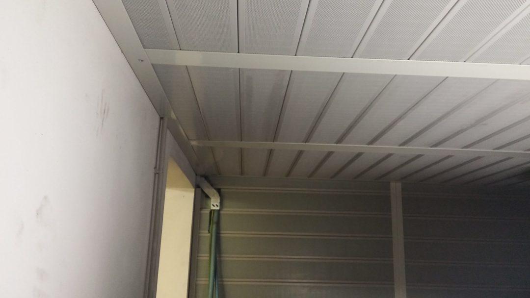 Isolalmento acustico locale ascensore, pareti e soffitto, particolare