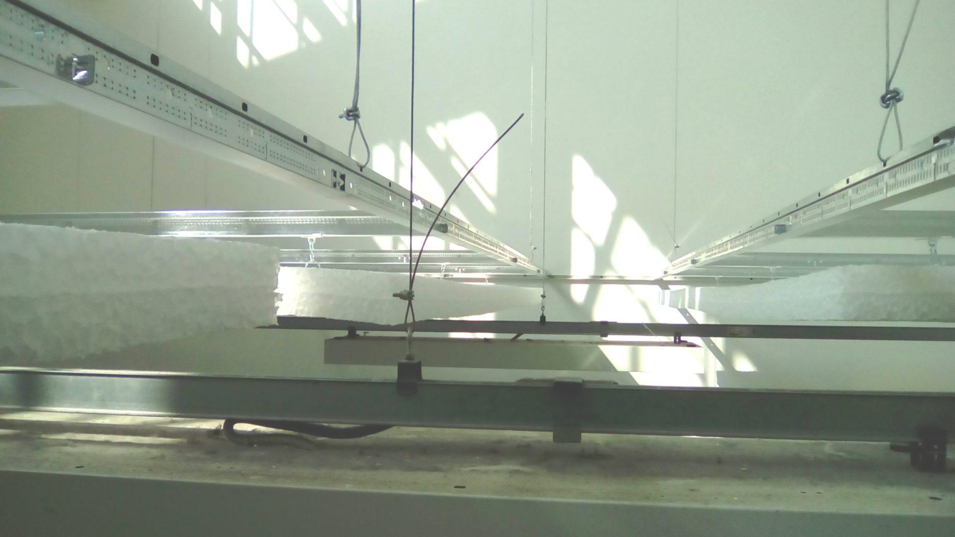 Particolare vista pannelli e sistema sospensione