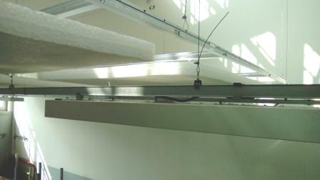 Particolare vista pannelli fonoassorbenti