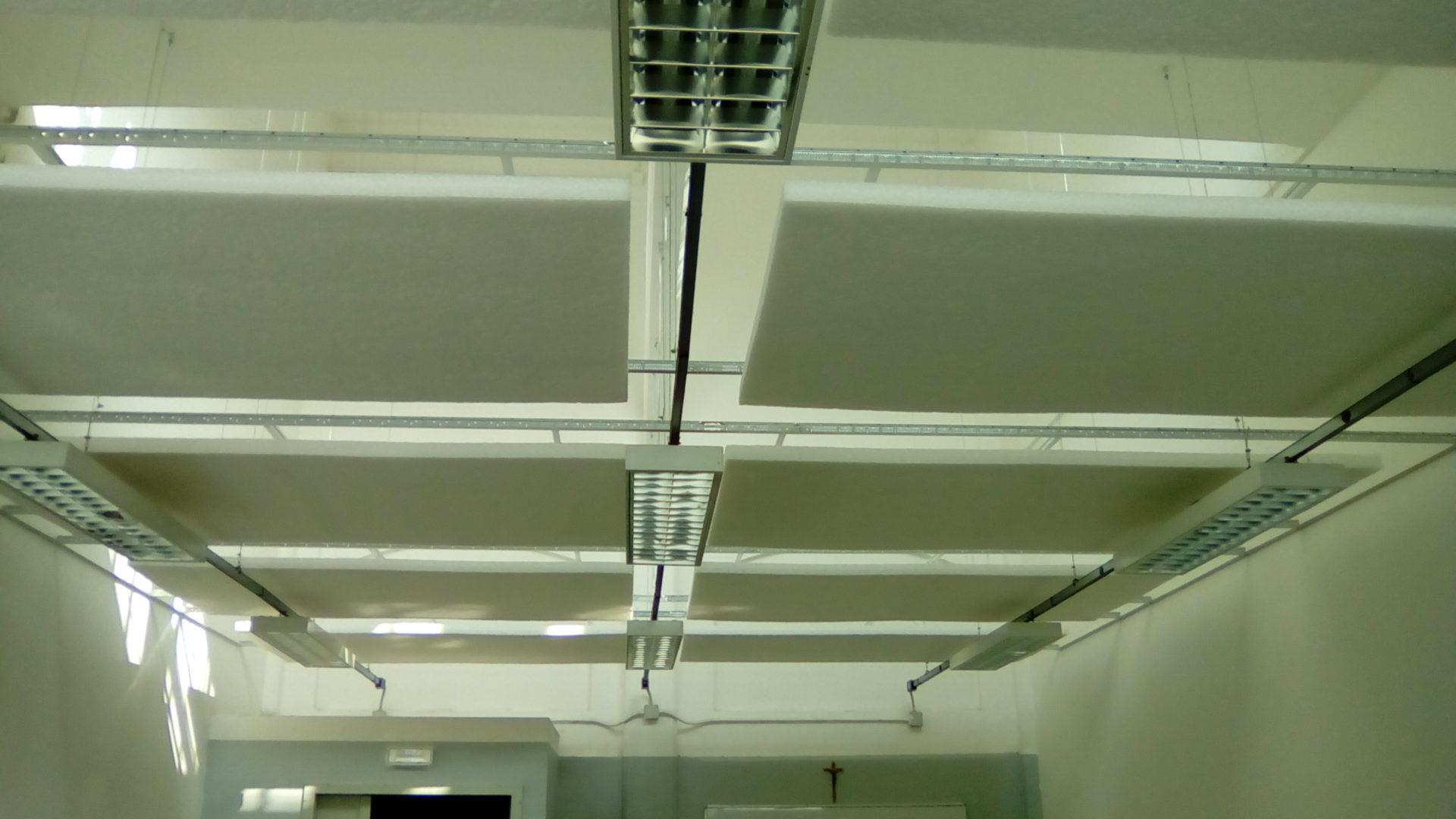 Vista d'insieme pannelli fonoassorbenti